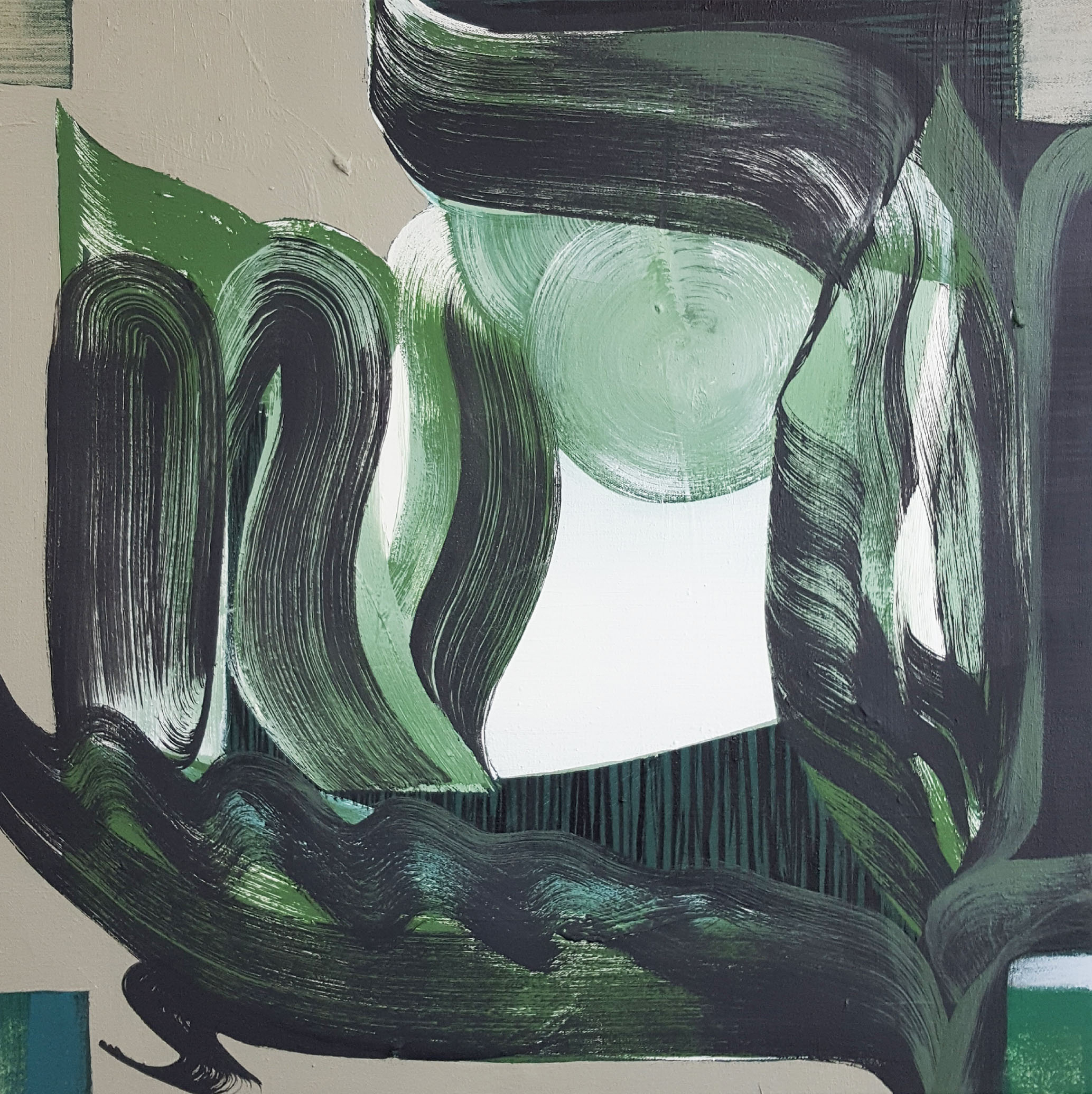 Janine van Oene / Landscape Looks / 2018 / 50 x 50 cm /  oil on canvas