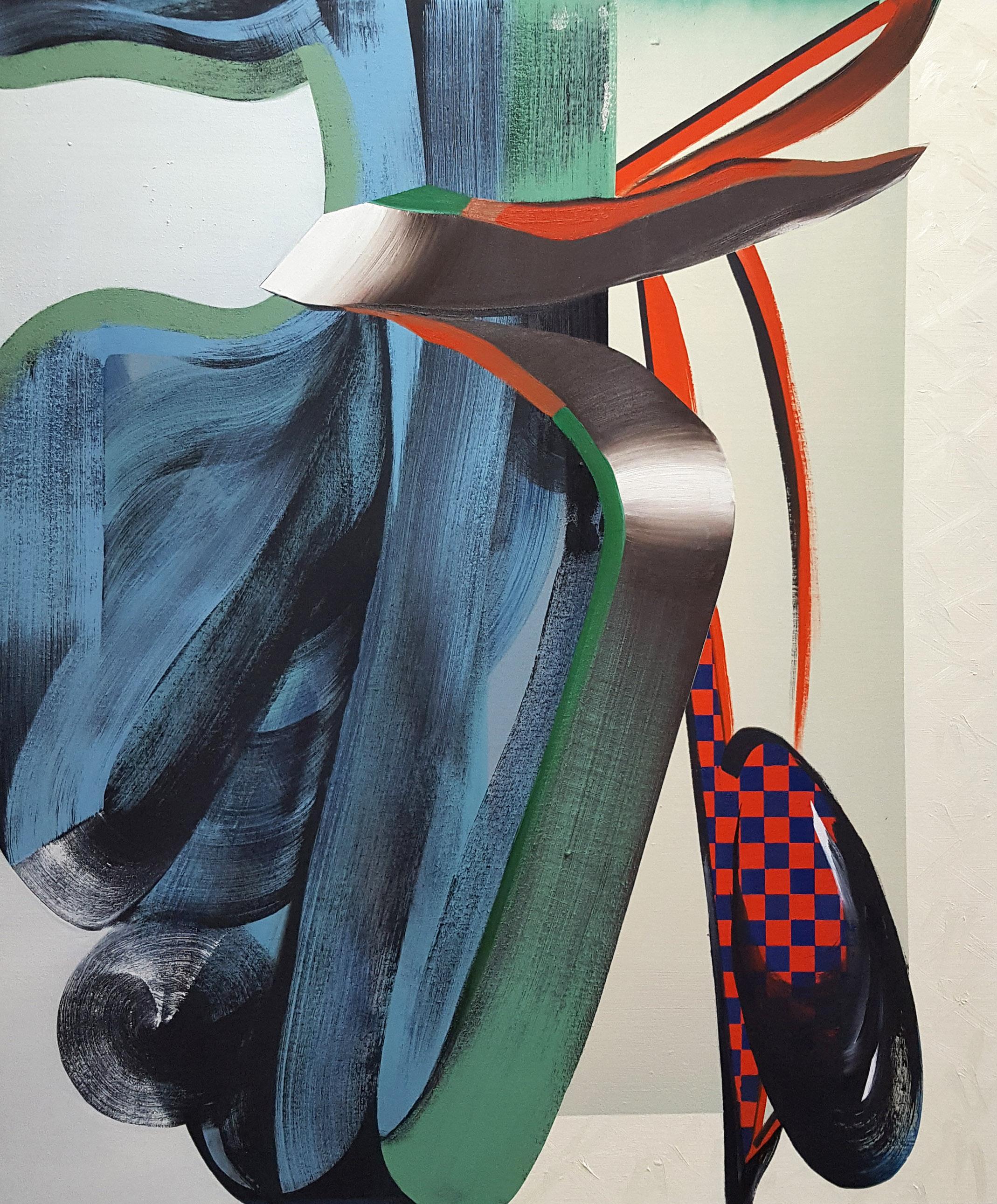 Janine van Oene / Mussel Smells / 2018 / 120 x 100 cm /  oil on canvas