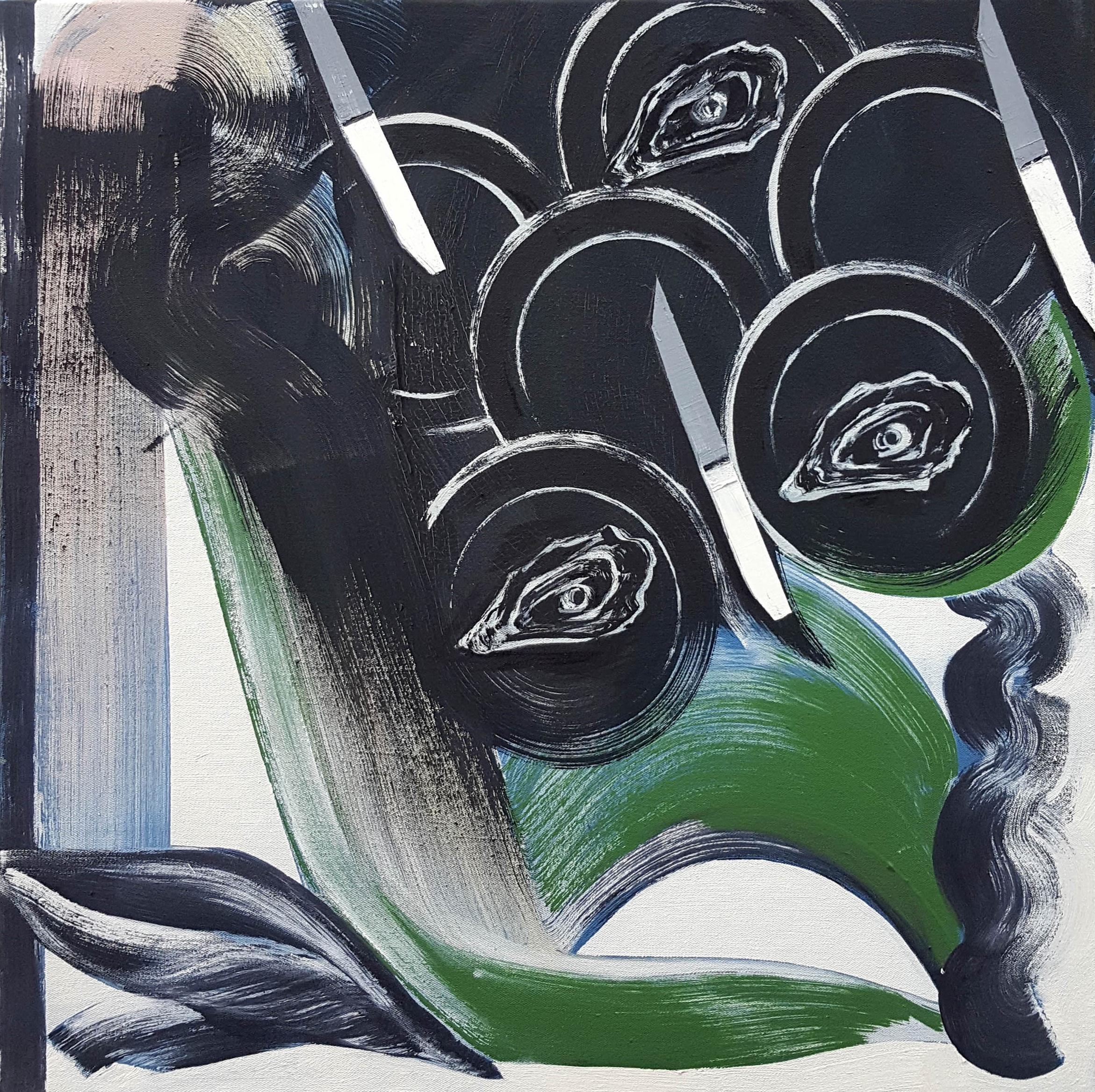 Janine van Oene / Umami Maybe / 2018 / 50 x 50 cm /  oil on canvas