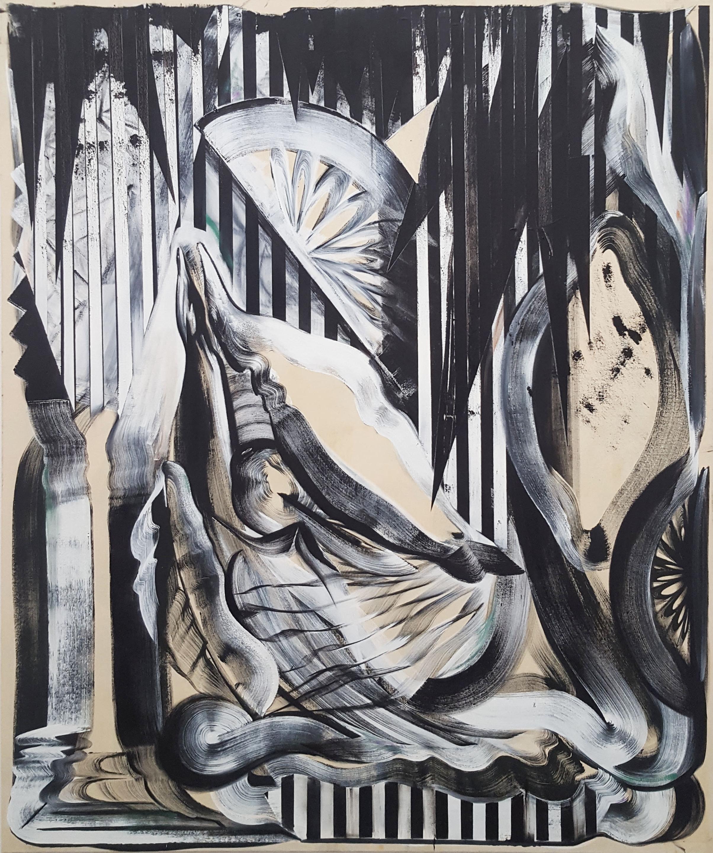 Janine van Oene / Buffet Bonafide / 2018 / 170 x 140 cm /  oil on canvas