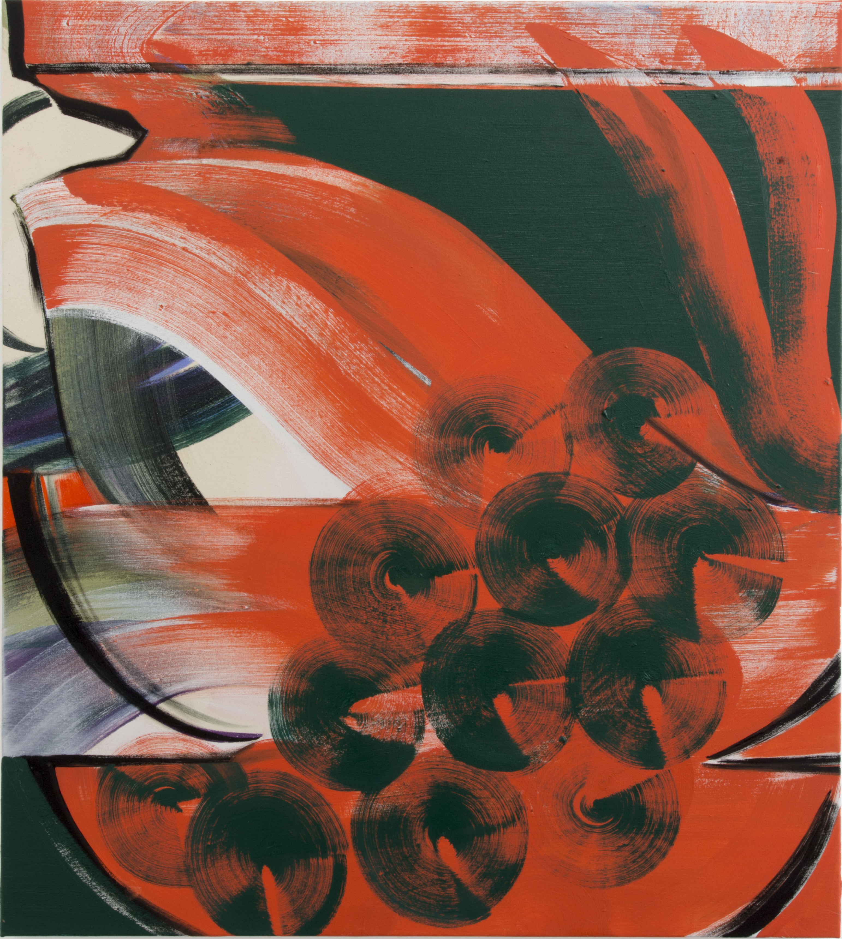 Janine van Oene / Stippenlift / 2018 / 95 x 85 cm /  oil on canvas