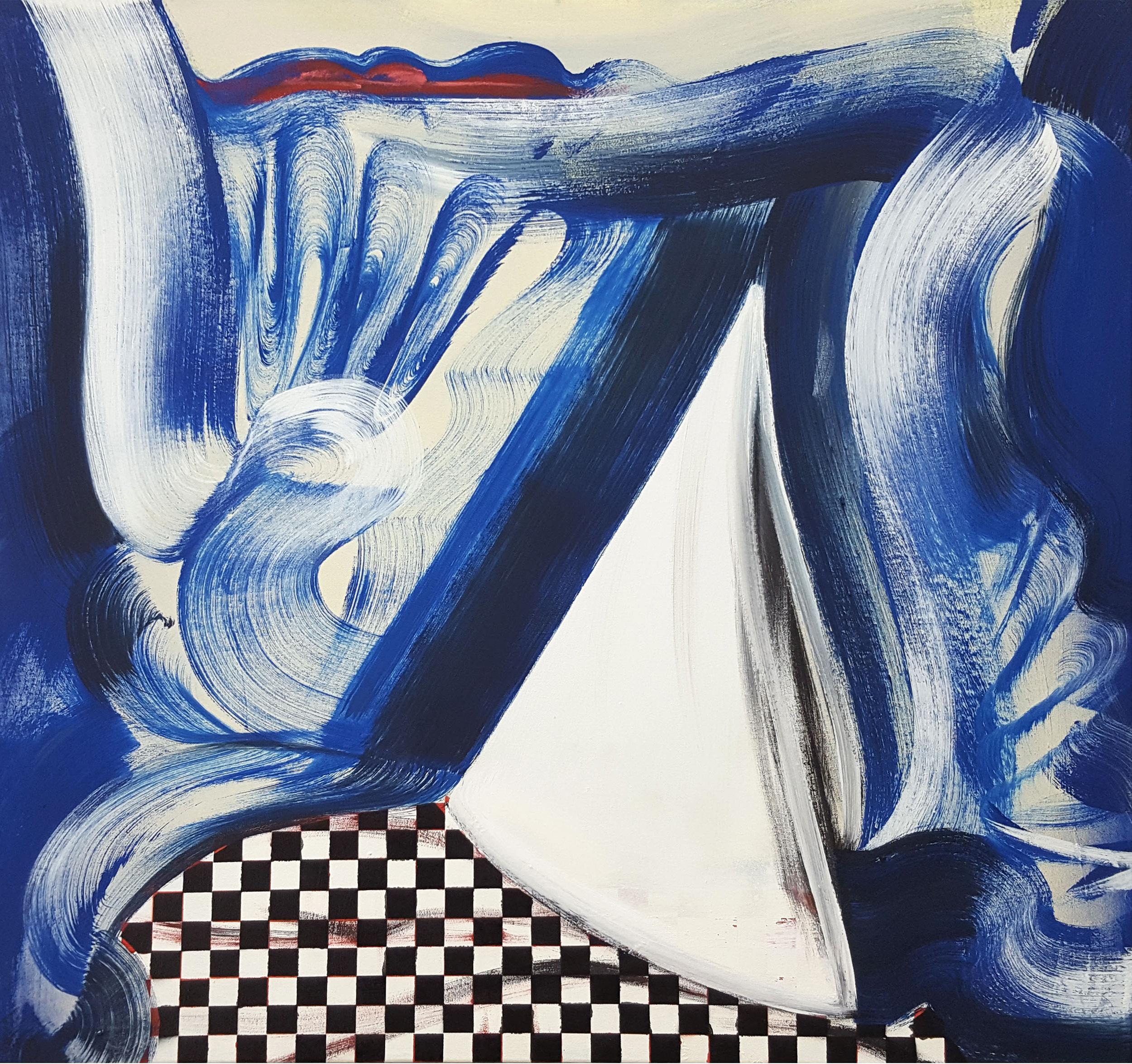 Janine van Oene / Soggy Bottom Sailor / 2018 / 70 x 75 cm /  oil on canvas